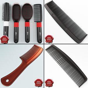 hairbrushs v2 3d model