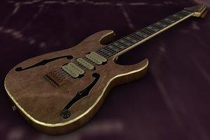 paul ibanez pgm10th guitar 3d model