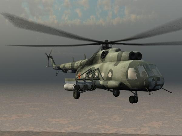 mi-17 mil helicopter 3d model