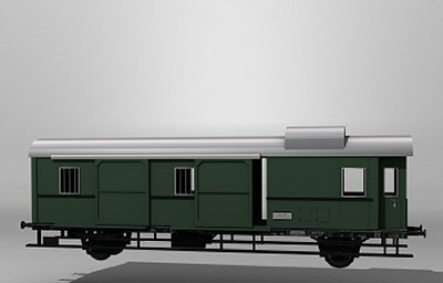 german mail car 3d model