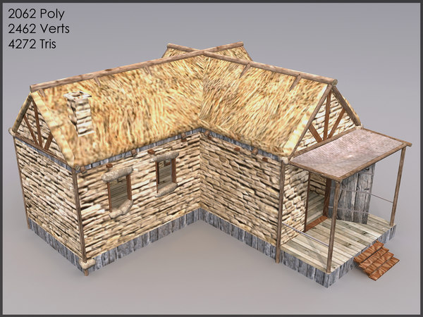 cottage interiors 3d model