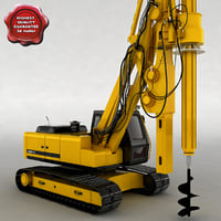 rotary drilling machine 3d model