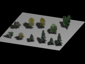 tree polys - plants 3d model