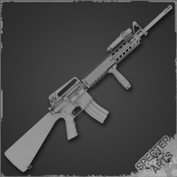m16a4 weapons rifle mws 3d model