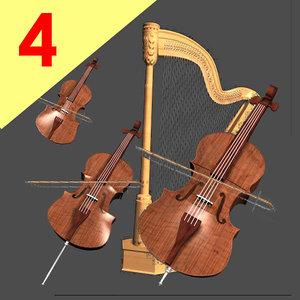 viola bass 3d model