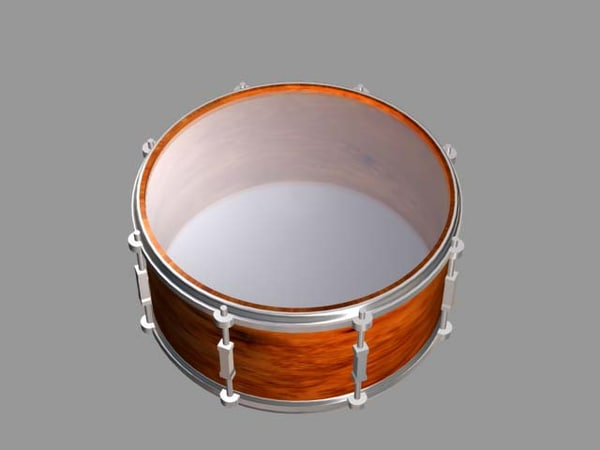 classical drum 3d model