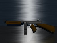 thompson rifle 3d model