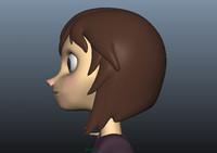 girl kid 3d model