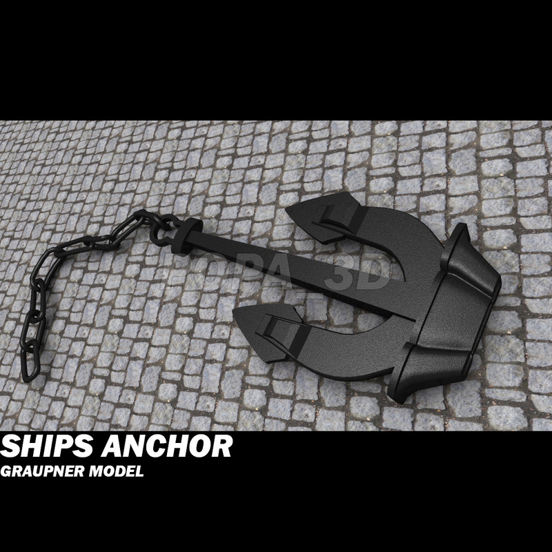 anchor graupner boats 3d model