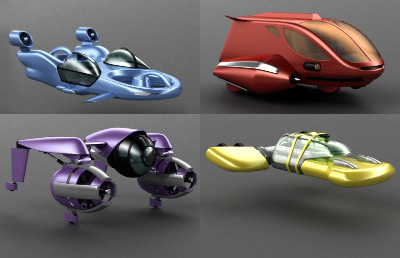 flying cars 3d model