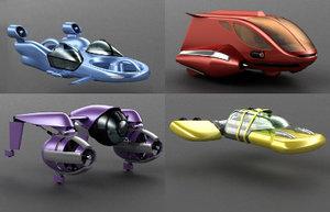 flying cars 3d model
