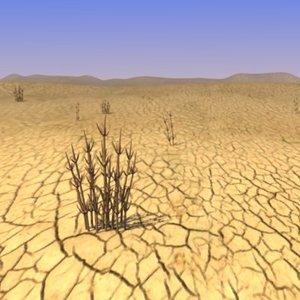 desert landscape sand 3d model