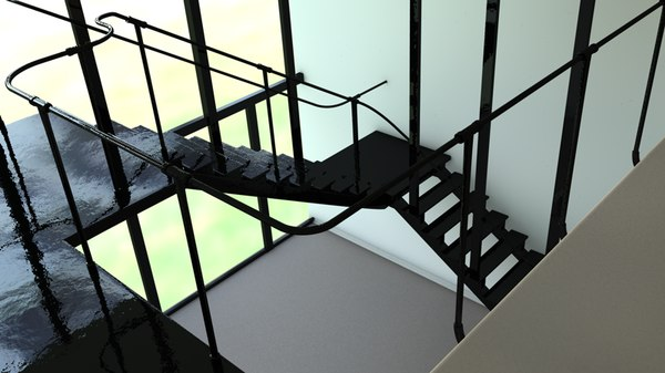 duplex apartment modern living room 3d model