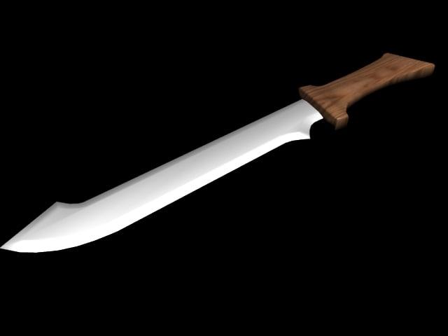 machete games 3d model