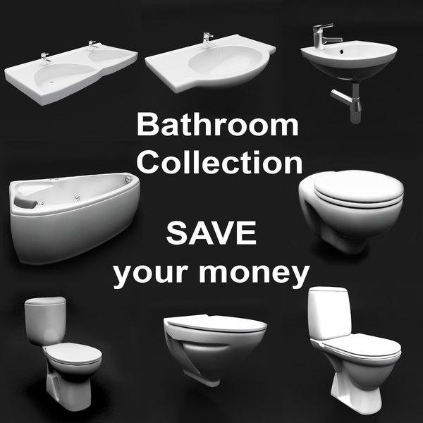 bathroom lavatory bath 3d model