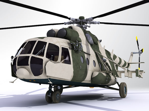 russian mil mi8 transportation 3d model