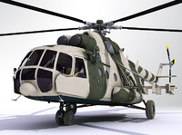 russian mil mi8 transportation 3d model