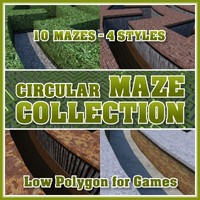 Low Polygon Circular Maze Collection