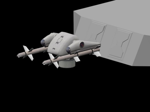 missile sequence animations systems 3d model
