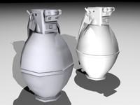 frag grenade games - 3d model