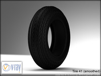 tire wheels 41 8 3d model