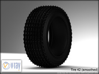 tire wheels 42 3d model