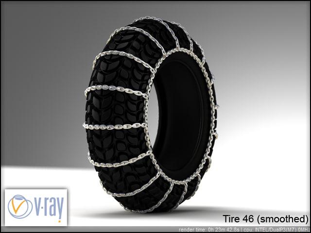 tire wheels 46 3d model