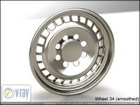 wheel 34 3d model