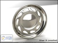 wheel 36 3d model
