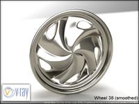 wheel 38 3d model