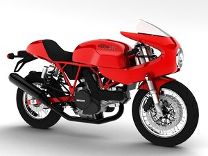ducati 1000s 2009 3d model