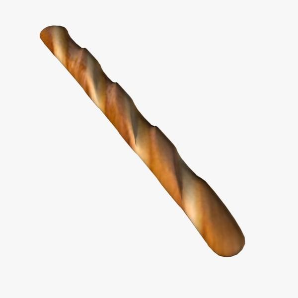 baguette 3d model