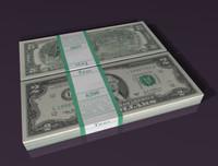 2 dollar 3d model