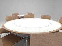 dining tables chairs 3d model