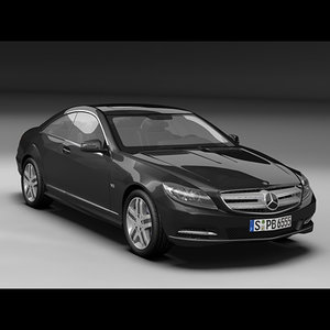 mercedes benz cl 3d model