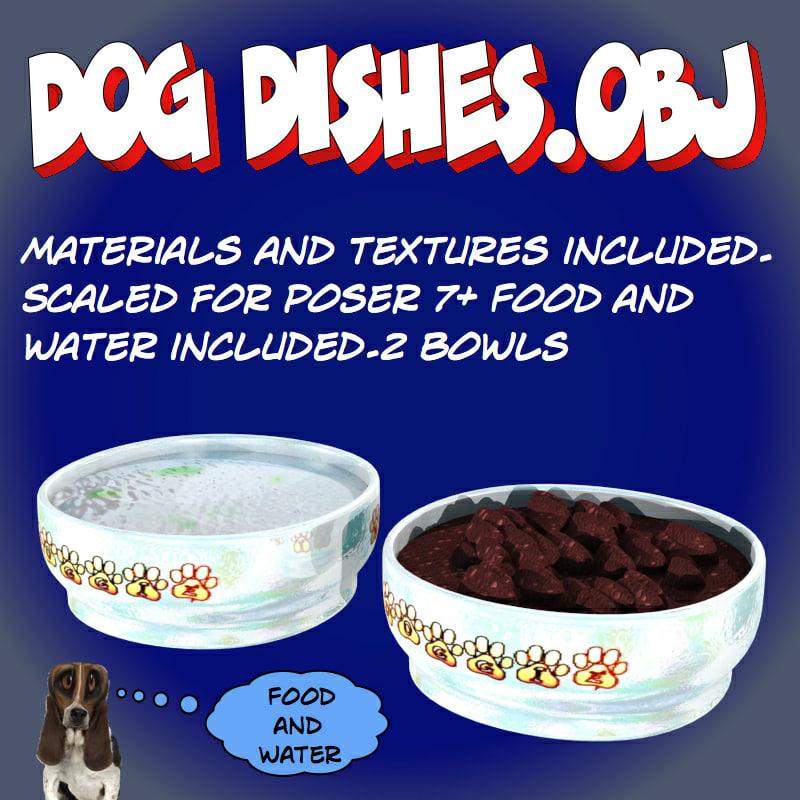 food bowls 3d model