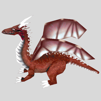 dragon fantasy 3d model