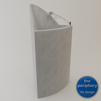 modern concrete drinking fountain 3d model