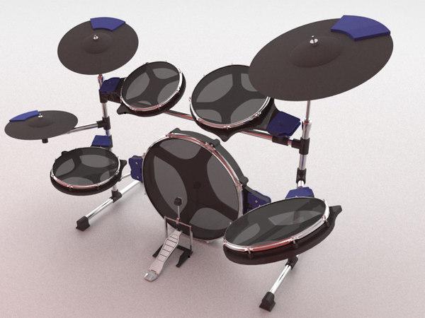 electric cymbals kick 3d model