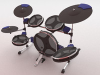 electric cymbals kick 3d model
