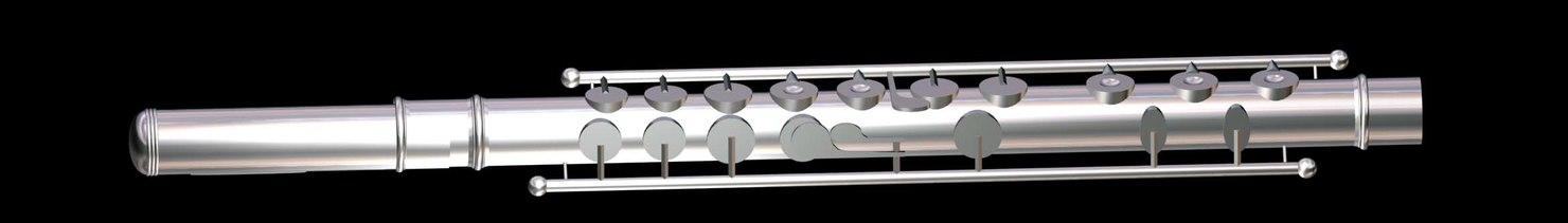 classical flute 3d model