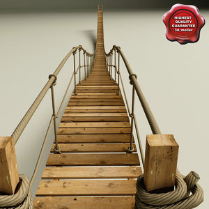 hanging bridge 3d model