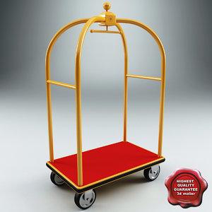 hotel cart 3d model