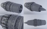 jet engine mkvii 3d model