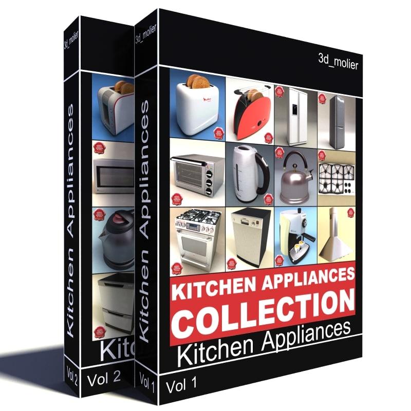 kitchen appliances v3 3d model