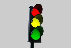 traffic stop light street 3d model