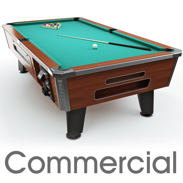 commercial pool table 8ft 3d model
