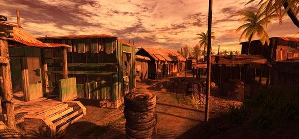 shanty town 3d model