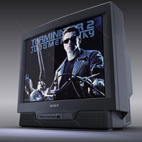 colour tv sony trinitron 3d model