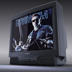 colour tv sony trinitron 3d model